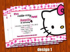 download now free printable colorful hello kitty invitation