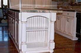 pics of split pilasters on cabinets white kitchen island