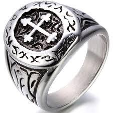 cross rings men images Fashion biker rings for men 316l stainless steel cross party ring jpg