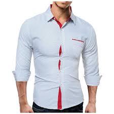 2017 new arrival men u0027s shirt long sleeve dots shirts mens dress