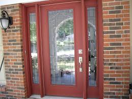 front door with glass panels fancy red painted frame front door with glass panels also rustic