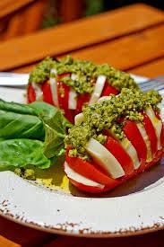 hasselback caprese salad with fresh pesto keviniscooking com