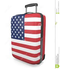 united luggage united states vacations and travel destinations concept of a flag
