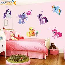 my little pony 3d cartoon wall stickers for kids rooms zooyoo1425