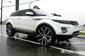 land rover white black rims land rover evoque with 24in lexani lust wheels exclusively from