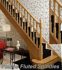 Spindle Staircase Ideas Oak Stair Spindles Palace Fluted Spindles