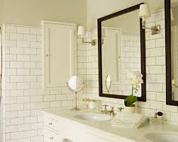 Bathroom White Subway Tile Houzz - Modern subway tile bathroom designs