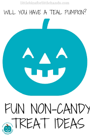 teal pumpkin and halloween non candy treats for kids