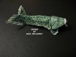 Origami Koi Fish Dollar Bill - money origami 1 bill koi fish w wiskers great gift idea ebay