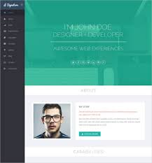 format html sed signature one page html resume template download 41 html5 templates