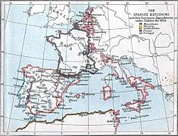 Map Of Spain And France by Maps Of The Spanish Kingdoms 1030 A D 1556 A D Perry