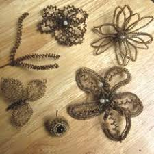 jewelry made from hair the design is made of human hair it is a pendant with human hair