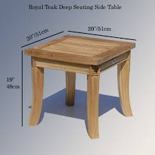Teak Side Table Outdoor Garden End Table Royal Patio Side Table