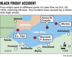 Map Of Sandusky Ohio by Storm Sank 4 Ships On Lake Erie In 1916 The Blade