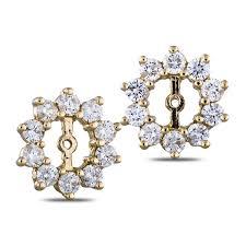 diamond earring jackets 1 5 8 carat diamond earring jackets in gold