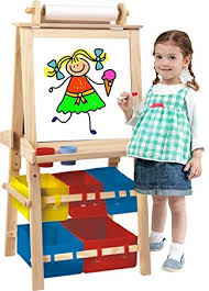 magnetic easel for toddlers amazon com kids destiny deluxe standing easel chalk board and