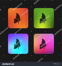 butterfly shape side view facing right stock vector 787249198
