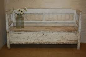 Wood Bench With Storage Innovative Antique Storage Bench Storage Bench Etsy Storage Ideas