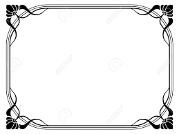 vector nouveau modern ornamental decorative frame royalty free