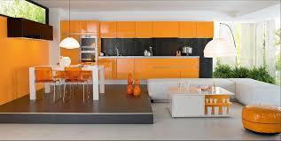 perene cuisines cuisine moderne couleur orange lune d eau par perene cuisines