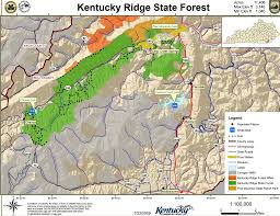 Map Of Kentucky State by Kentucky Ridge State Forest Maplets