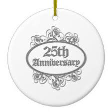25th wedding anniversary christmas ornament 25th wedding anniversary christmas tree decorations