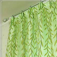 Leaf Pattern Curtains Kalaixing Brand Curtains Rural Style Willow Leaves Pattern Offset