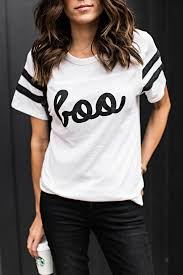 get ready for halloween in this super cute boo graphic tee ily
