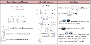 the matrix and solving systems with matrices she loves math