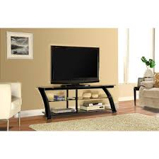 Glass Tv Cabinet Designs For Living Room Innovex Nexus Black Glass Tv Stand For Tvs Up To 65