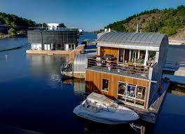floating homes around world vila