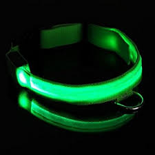 light up collar amazon safety collar for dogs flashing led lights up the collar see where