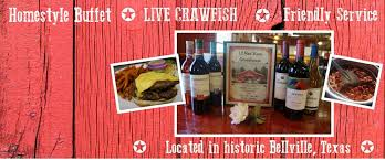 Texas Crawfish Barn Lil Red Barn Steakhouse Home Bellville Texas Menu Prices