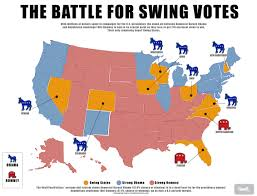 Romney Obama Map As Clock Ticks Obama Romney In Dead Heat Battle On Eve Of Vote