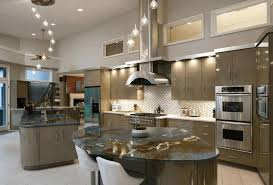 kitchen rock island greyish brown wooden kitchen island glossy brown and gray smooth