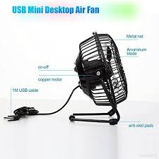 le bureau usb yaletu mini usb table desktop fan personnel id al pour la maison le