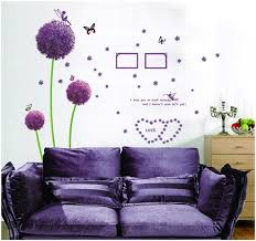 Home Decor Decals Aliexpress Com Buy Diy Flying Dandelion Flower Butterfly Wall