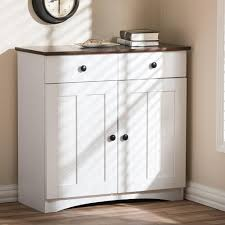 Furniture Kitchen Storage Baxton Studio Lauren Contemporary 30 42 In H X 31 2 In W White