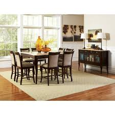 counter dining chairs steve silver marseille 9 piece marble top counter height dining