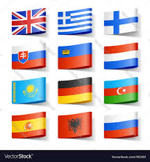 Europe Flags Europe Flags Royalty Free Vector Image Vectorstock
