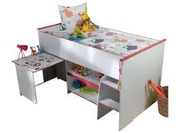 lit surélevé avec bureau lit surélevé combiné moby coloris blanc et vente de lit