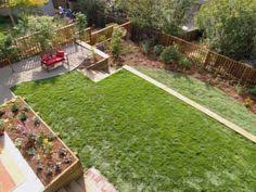 Sloped Backyard Landscaping Ideas Great Shot Of What Landscaping Can Do For A Bare Backyard Before