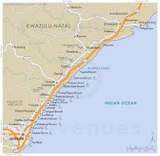 coast map dolphin coast map south africa