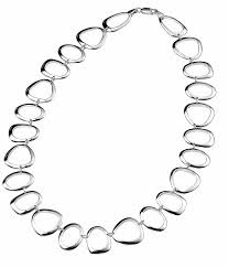 link necklace silver images Elements sterling silver n2708 ladies 39 large oval triangle and jpg