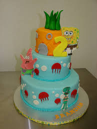 brandan u0027s 2nd birthday spongebob under the sea cake a photo on