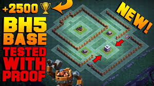 most epic builder hall 5 base w proof new coc bh5 builder