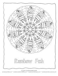 25 rainbow fish template ideas fish