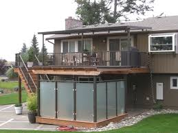 deck rails patio cover spa privacy enclosure traditional