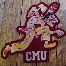 Central Michigan University Map by Old Central Michigan University Logo Fire Up Chips