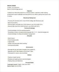 Internship Resume Builder College Student Resume Format Free College Resume Template First
